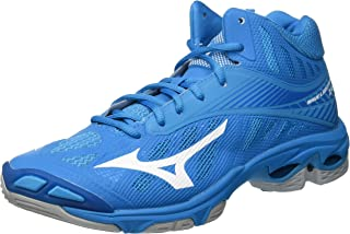 MIZUNO V1GA180598 Wave LIGHT Z4MID Men's Volleyball Shoes, Blue