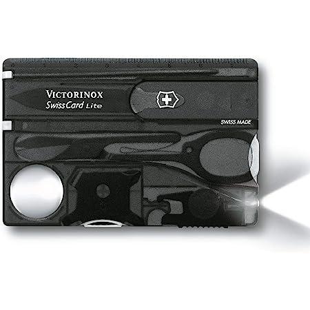 Victorinox Swisscard Lite, color Negro Transparente, Led Blanco
