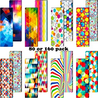 Optical Bookmarks Laminated Book Markers Creative Colored Bookmarks Reading Bookmarks for School Office Teacher Student Cl...