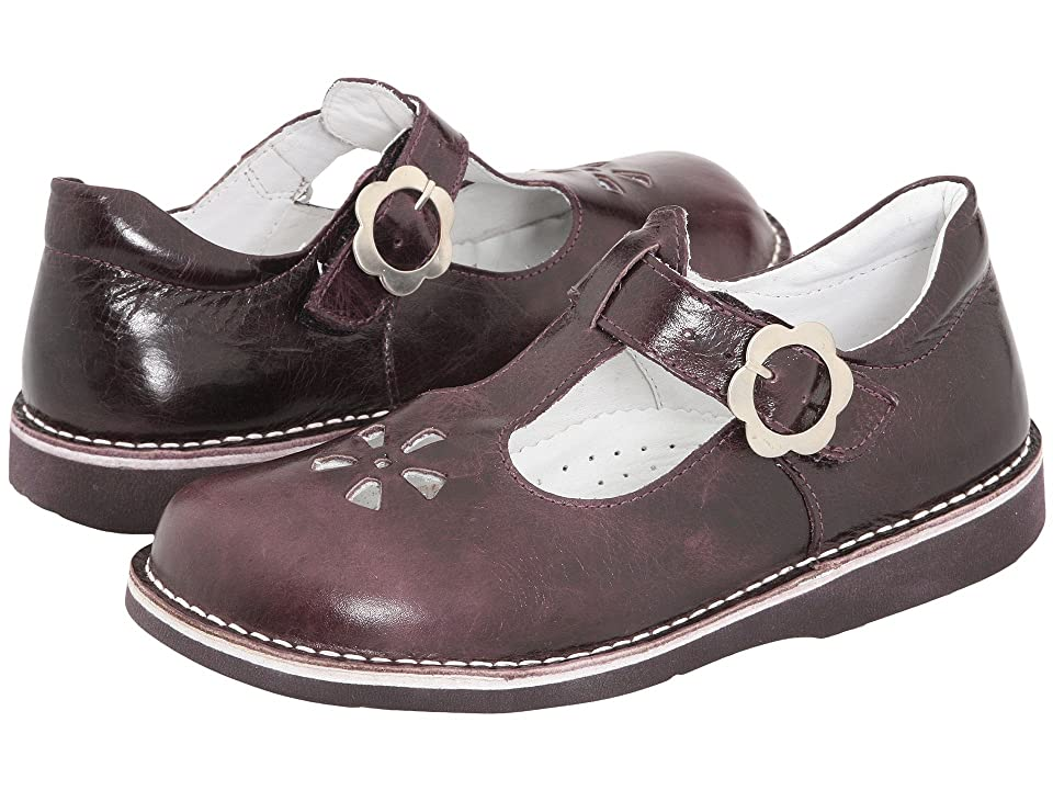 Kid Express Molly (Toddler/Little Kid/Big Kid) (Eggplant Burnished Leather) Girls Shoes