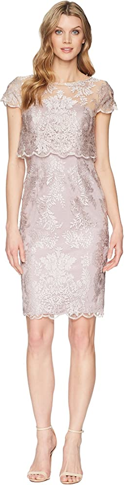 Short Metallic Embroidered Dress