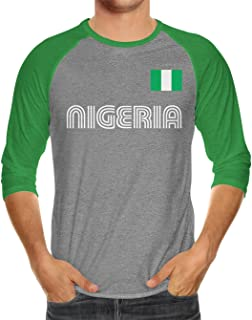 Nigeria Soccer Jersey Unisex 3/4 Raglan Shirt