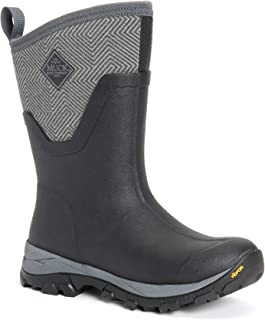 Muck Boot The Original Company, Women's Arctic Ice AG Mid, Size 6, Black/Gray Geometric