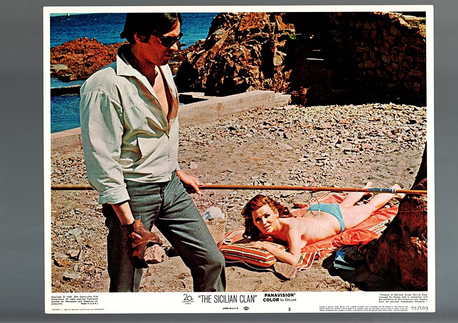 MOVIE POSTER: THE SICILIAN Dealing Fashionable full price reduction D CARD-VF-DRAMA-ALAIN CLAN-1970-LOBBY