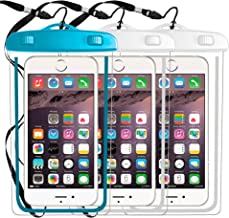 3-Pack Universal Waterproof Case, Cellphone Dry Bag Pouch Compatible with iPhone X XS MAX XR 8,7 6S,6,6S Plus,SE,5S,Galaxy s9,s8,S7, S6 Edge Note 7 5,HTC LG Sony up to 6