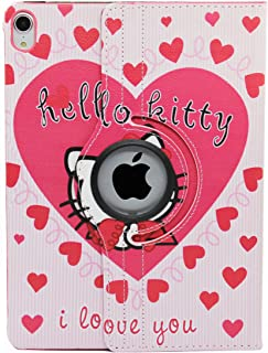 iPad Pro 11 case 2020 2018 Model, Hello Kitty Design 360 Degree Rotating PU Leather Smart on/Off Cover Hard Case for Apple...