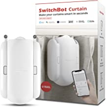 SwitchBot Curtain Smart Electric Motor - Wireless App or Automate Timer Control, Add Hub Mini/Plus Compatible with Alexa, ...