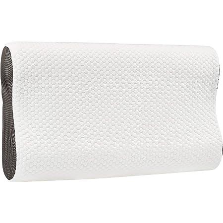 Amazon Basics Oreiller cervical en mousse à mémoire de forme Contour, hauteur réglable - 60 x 35 cm