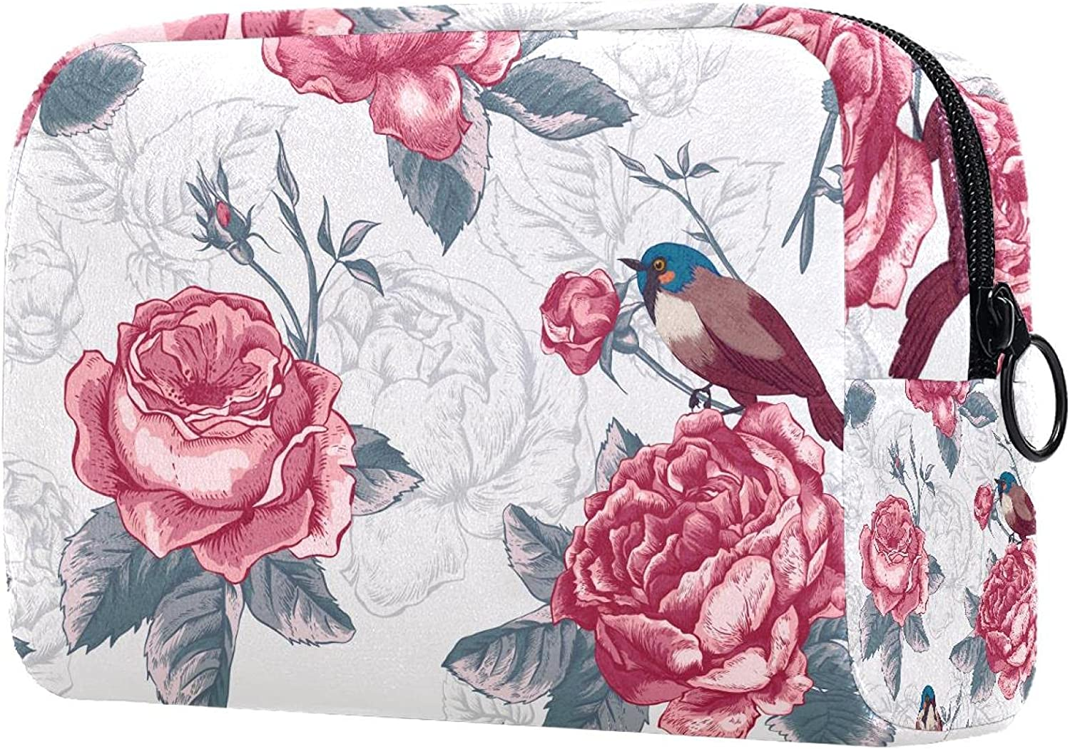 Makeup lowest price Toiletry unisex Bag Purse Birds Cosmetic Leaves Flower