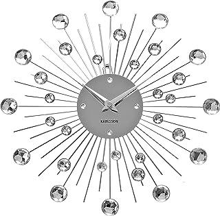 Karlsson Sunburst Wall Clock - Silver