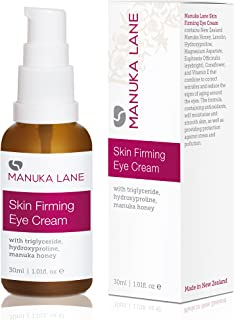 Natural Anti-Aging Eye Cream Moisturizer with Manuka Honey, Eyebright, Vitamin E, and Lanolin – Nature's Most Powerful Defense Against Dark Circles Under-Eye Bags, Dark Circles and Puffiness.