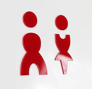 WC-bordje, keuze uit kleuren, Schwarz Hochglanz, toiletbordje voor dames, heren, 15 verschillende kleuren.