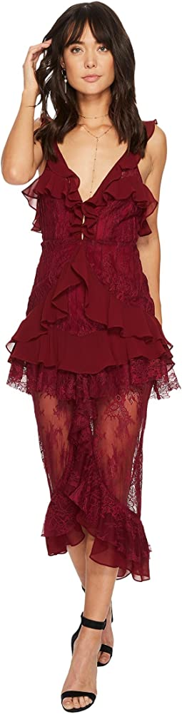 For Love and Lemons - Daphne Lace Midi Dress