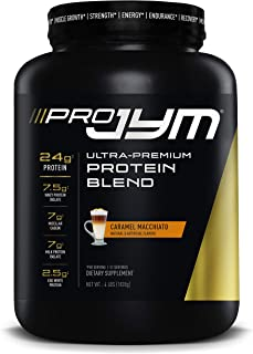 Pro JYM Protein Powder - Egg White, Milk, Whey Protein Isolates & Micellar Casein | JYM Supplement Science | Caramel Macch...