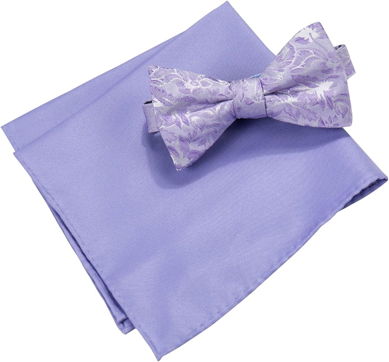 Men's Lyons Floral Bow Tie & Pocket Square Set