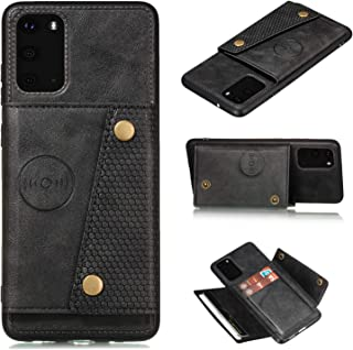 S20 Ultra Case I Card Holder Kickstand Leather Case with Metal Back For Magnetic Car Mount I Full Body Armor Wallet Cases ...
