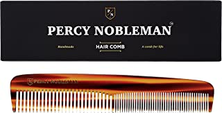 Percy Nobleman Acetate Hair Comb - Tortoiseshell Design
