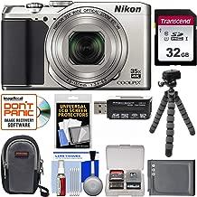 Nikon Coolpix A900 4K Wi-Fi Digital Camera (Silver) with 32GB Card + Case + Battery + Flex Tripod + Kit