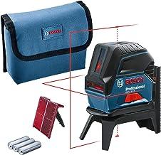 Bosch Professional kruislijnlaser GCL 2-15 (rode laser, met loodpunten, werkbereik: 15 m, 3 AA-batterijen, draaihouder RM ...