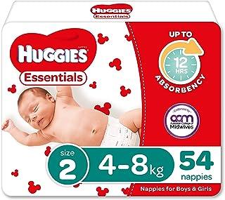 Huggies Essentials Nappies Size 2 (4-8kg) 54 Count
