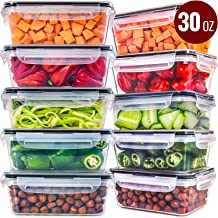 Food Storage Containers with Lids [10 Pack, 30 Ounce] - Food Containers with Lids Plastic Containers with Lids - Leak Proof Lunch Containers Plastic Storage Containers with Lids Meal Prep Containers