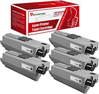 Awesometoner Compatible 5 Pack 44469802 Toner Unit For OKI C310 330 361 510 530 High Yield 3500 Pages