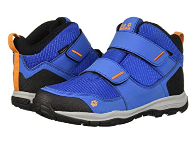 Jack Wolfskin Kids Mountain Attack 3 Texapore Mid VC (Toddler/Little Kid/Big Kid) (Blue/Orange) Boys Shoes