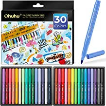 Fabric Markers Pen, Ohuhu 30 Colors Permanent Fabric Paint Marker Pens for DIY Costumes, T-Shirt, Clothes, Shoes, Bags, Ca...