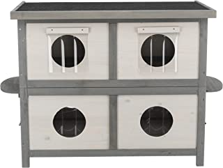 natura Cat Home for Multiple Cats, light gray/gray, Model Number: 44117