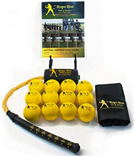 Rope Bat - The Ultimate Hitting System w/Smushballs - Baseball & Softball Swing Trainer, Training Tool, Batting Aid
