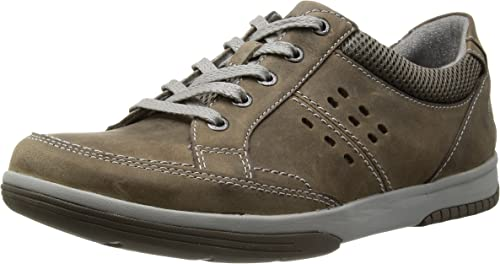 Clarks Sautope Casualee Clarks Wavecamp percorso uomo in Olive Nubuck o tabacco