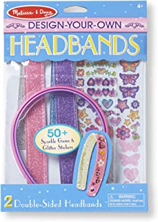 Melissa & Doug 5548 Design-Your-Own Headbands Jewelry-Making Kit with 50+ Stickers