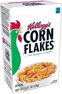 Kellogg's Corn Flakes, Breakfast Cereal, Original, Fat-Free, Single Serve, 0.81 oz Box(Pack of 70)