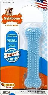 Nylabone Chicken Puppy Bone Chew Toy, Petite Blue