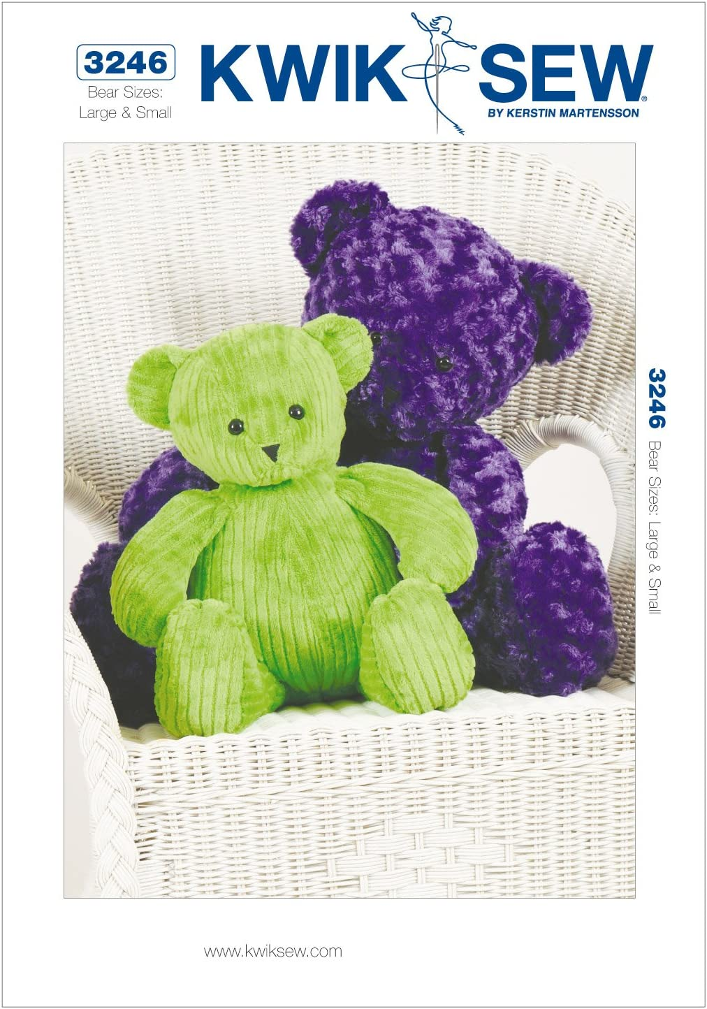 KWIK-SEW Today's only 67% OFF of fixed price PATTERNS K3246OSZ Teddy Bears Sewing Size Pattern Larg