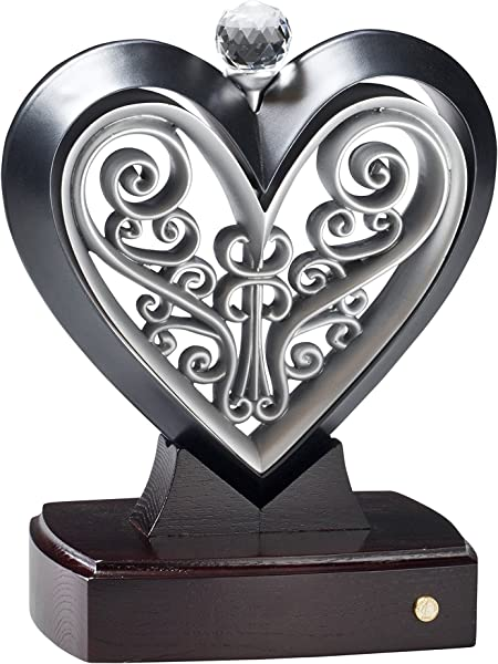 Unity Heart Black And Pewter