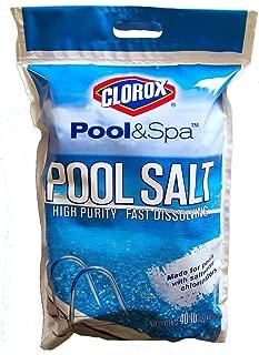 Clorox 81040CLX Pool Salt Bag 40 lb. (Pack of 6), White
