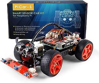 SunFounder Raspberry Pi Smart Robot Car Kit - PiCar-S Block Based Graphical Visual Programming Language Line Following Ult...
