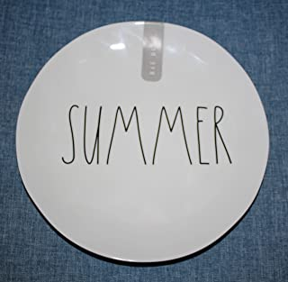 Rae Dunn SUMMER in Large Letters LL Melamine Collection 10 inch Dinner Plate. By Magenta.