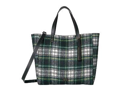 Frances Valentine Margaret Double Handle Tote (Plaid) Handbags