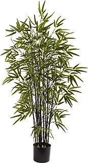 Nearly Natural 5417 Black Bamboo Tree, 4-Feet, Green
