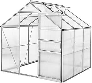TecTake Invernadero de jardín policarbonato Transparente