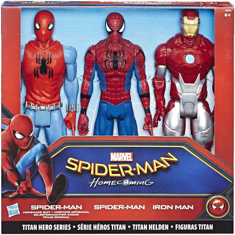 Hasbro C2413EU5 - Spider-Man Mvl Titan Hero Series 3 Pack, Actionfigur