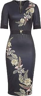 DOLLILA Short Sleeve Pirouette Midi Dress in Black