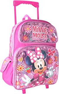 """Disney Junior Minnie Mouse Shine Girl's 16"""" Roller/Rolling Large Backpack"""