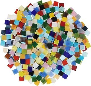 Belle Vous Tesselles Mosaique Loisir Creatif (700 Pcs / 500g) - 1 x 1cm - Assortiment de Carreaux de Mosaique Verre pour D...