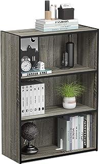 Sponsored Ad - Furinno Pasir 3-Tier Open Shelf Bookcase, French Oak Grey