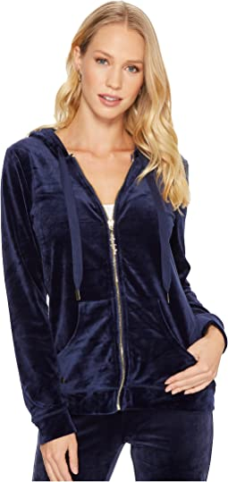 Lilly Pulitzer - Larina Velour Zip-Up Hoodie