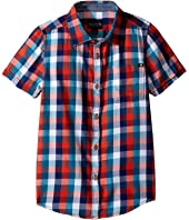 Lucky Brand Kids - Pier Short Sleeve Camp Shirt in Twill (Big Kids)