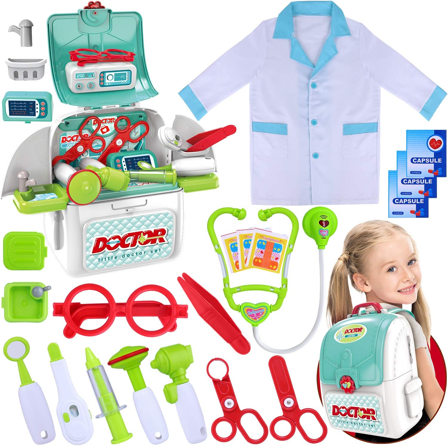 GINMIC Toy Doctor Kansas City Mall Kit for Kids Play Pretend 22 Pieces Toddlers Great interest